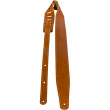 Oil Leather Guitar Strap With Contrast Stitching Mango 2.5 in.