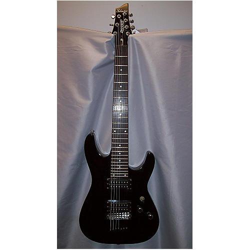 Schecter Guitar Research Omen 7 Black W/ Dimarzio D-Activator Pickups Solid Body Electric Guitar
