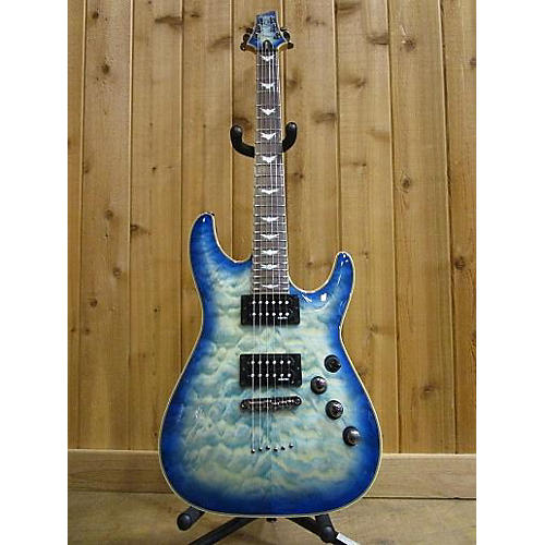 used schecter guitar research omen extreme 6 solid body electric guitar ocean blue burst. Black Bedroom Furniture Sets. Home Design Ideas