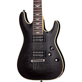schecter guitar research omen extreme 7 electric guitar see thru black guitar center. Black Bedroom Furniture Sets. Home Design Ideas