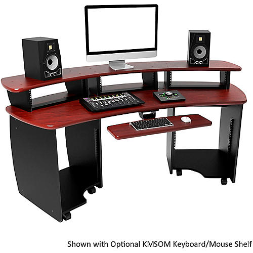 Omnirax OmniDesk Audio/Video Editing Workstation - Mahogany