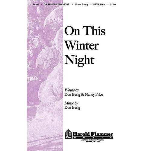 Shawnee Press On This Winter Night SATB composed by Nancy Price