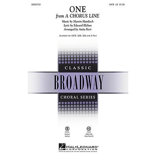 Hal Leonard One (from A Chorus Line) ShowTrax CD Arranged by Anita Kerr