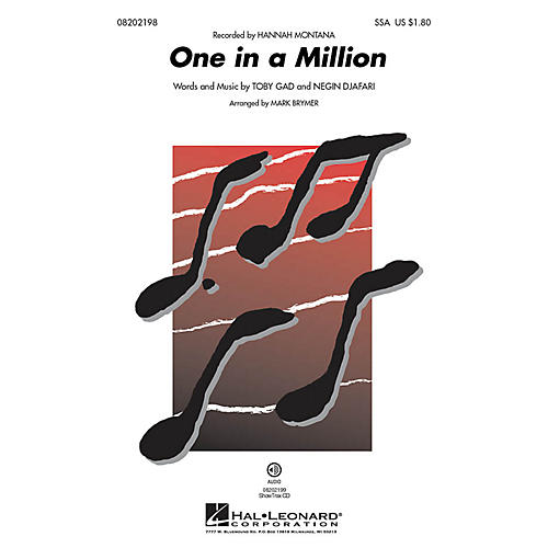 Hal Leonard One in a Million ShowTrax CD by Hannah Montana Arranged by Mark Brymer