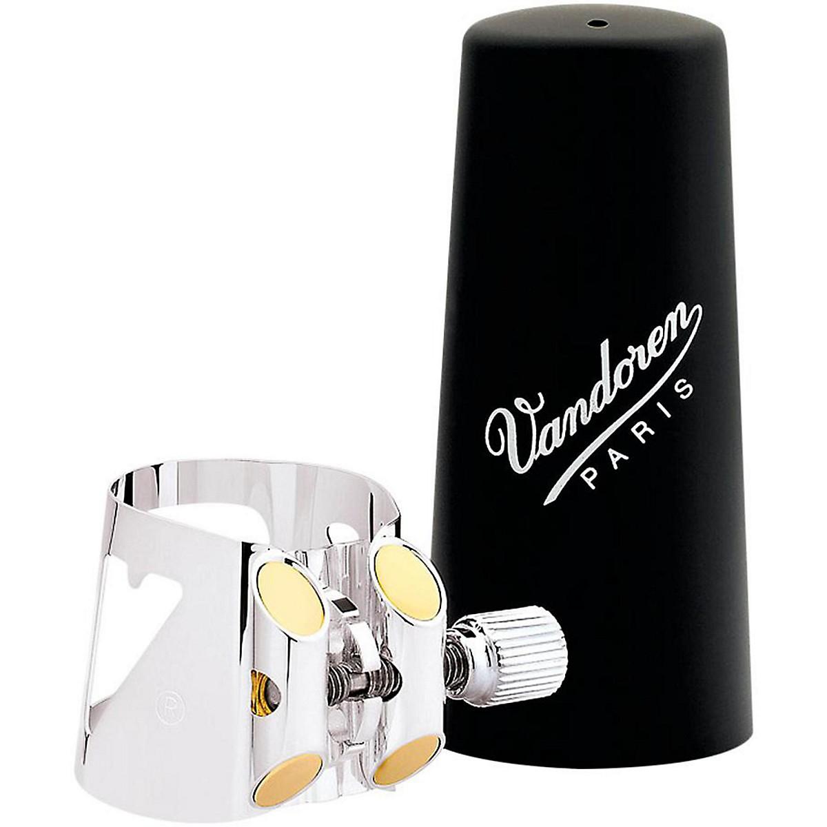 Vandoren Optimum Bass Clarinet Silver-plated Ligature & Plastic Cap
