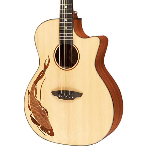 Luna Guitars Oracle Grand Concert Series Koi Acoustic-Electric Guitar