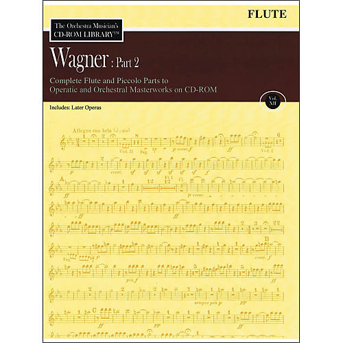 Hal Leonard Orchestra Musician's CD-Rom Library Vol 12 Wagner Part 2 Flute