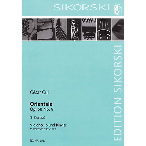 Sikorski Orientale, Op. 50, No. 9 (Violoncello and Piano) String Series Softcover