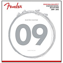 Fender Original Bullets Vintage Nickel Bullet End Electric Guitar Strings - Light