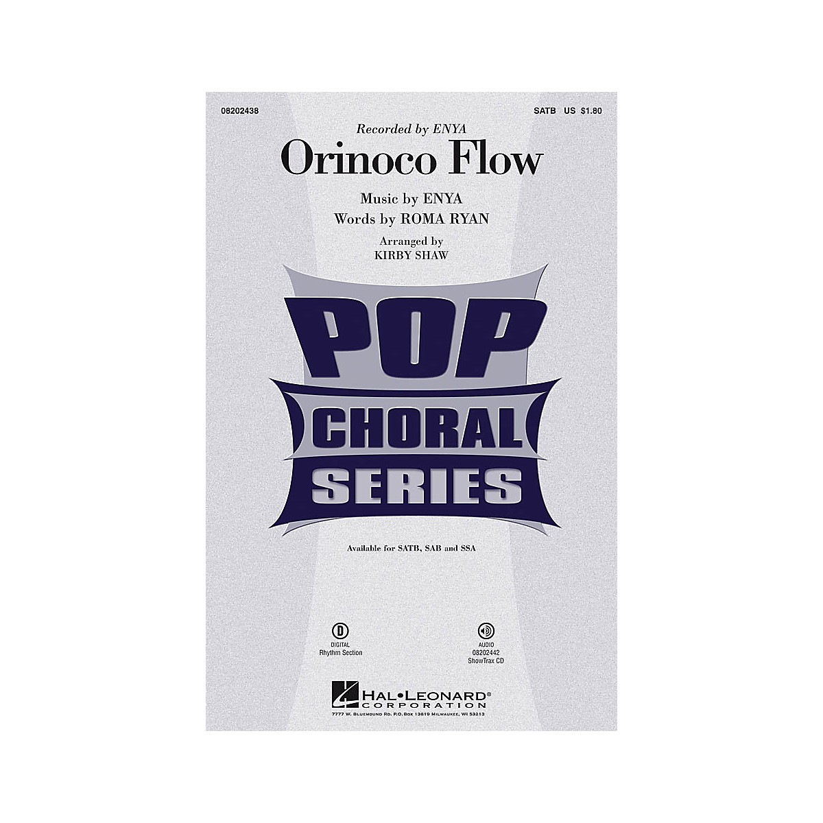 Hal Leonard Orinoco Flow SATB by Enya arranged by Kirby Shaw