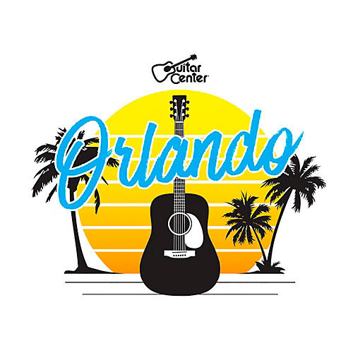 Guitar Center Orlando Guitar Sunset Sticker