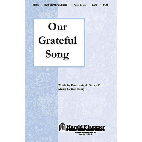 Shawnee Press Our Grateful Song SATB composed by Nancy Price