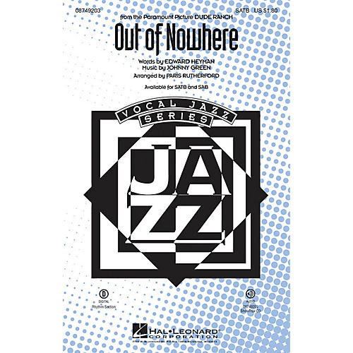 Hal Leonard Out of Nowhere ShowTrax CD Arranged by Paris Rutherford