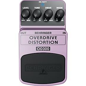 behringer overdrive distortion od300 guitar effects pedal guitar center. Black Bedroom Furniture Sets. Home Design Ideas