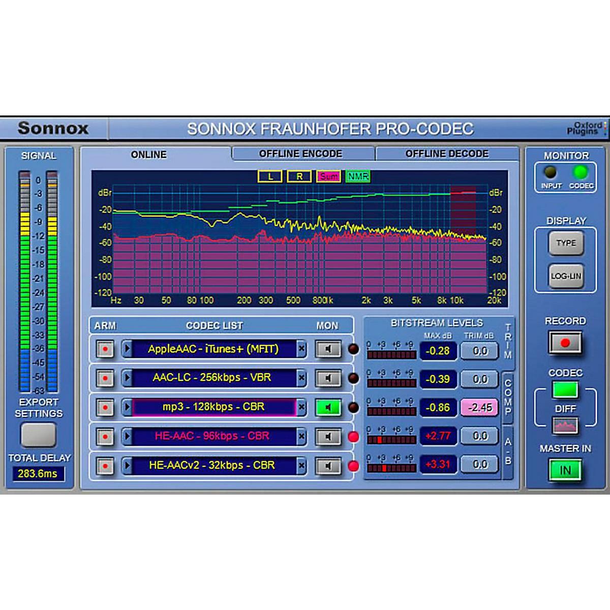 Sonnox Oxford Fraunhofer Pro-Codec (Native) Software Download