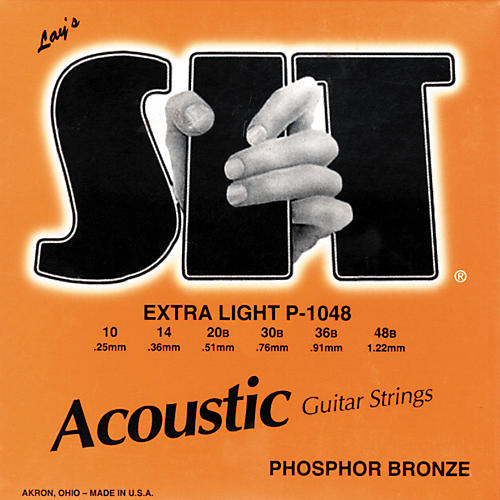 SIT Strings P-1048 Phosphor Extra Light Acoustic Guitar Strings