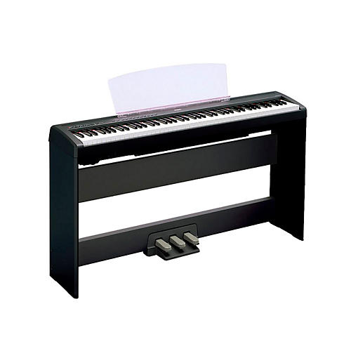 yamaha p 105 88 key weighted action digital piano with l85 wood stand guitar center. Black Bedroom Furniture Sets. Home Design Ideas
