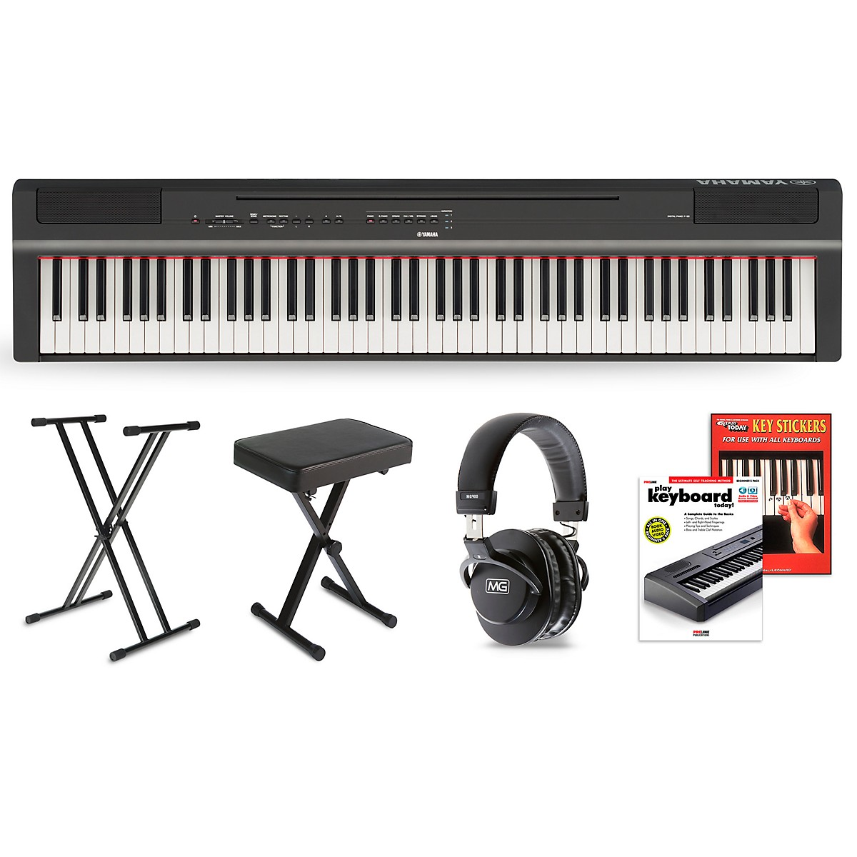Yamaha P-125 Digital Piano Keyboard Package