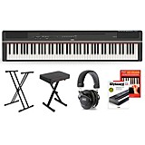 Yamaha P-125 Digital Piano Keyboard Package Black Deluxe Package