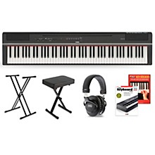 P-125 Digital Piano Keyboard Package Black Deluxe Package