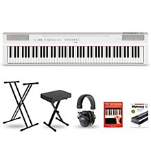 P-125 Digital Piano Keyboard Package White Deluxe Package