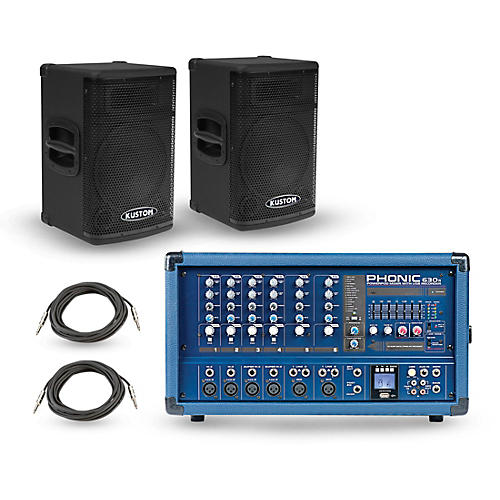 Phonic PA Package with Powerpod 630R Mixer and KPX Speakers