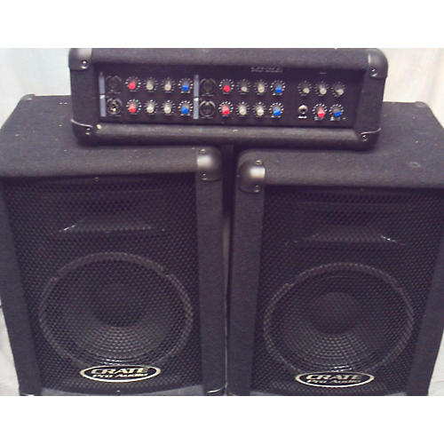 used crate pa4 pa system sound package guitar center. Black Bedroom Furniture Sets. Home Design Ideas