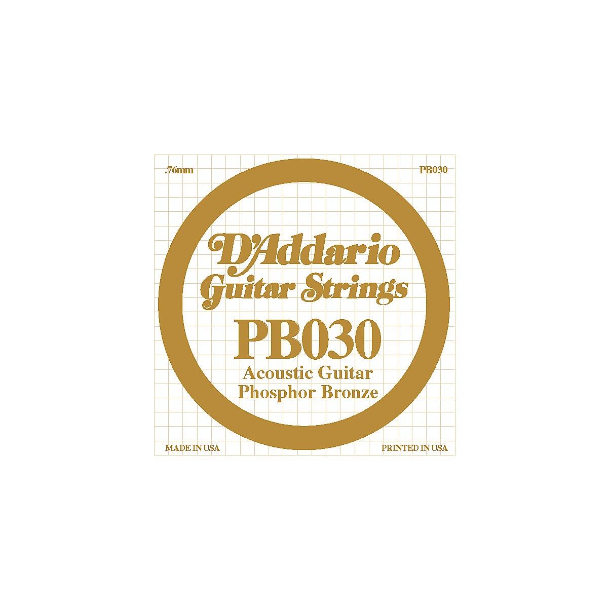 D'Addario PB030 Phosphor Bronze Acoustic Guitar Strings
