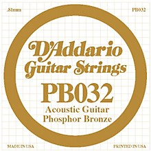 D'Addario PB032 Phosphor Bronze Single Acoustic Guitar String