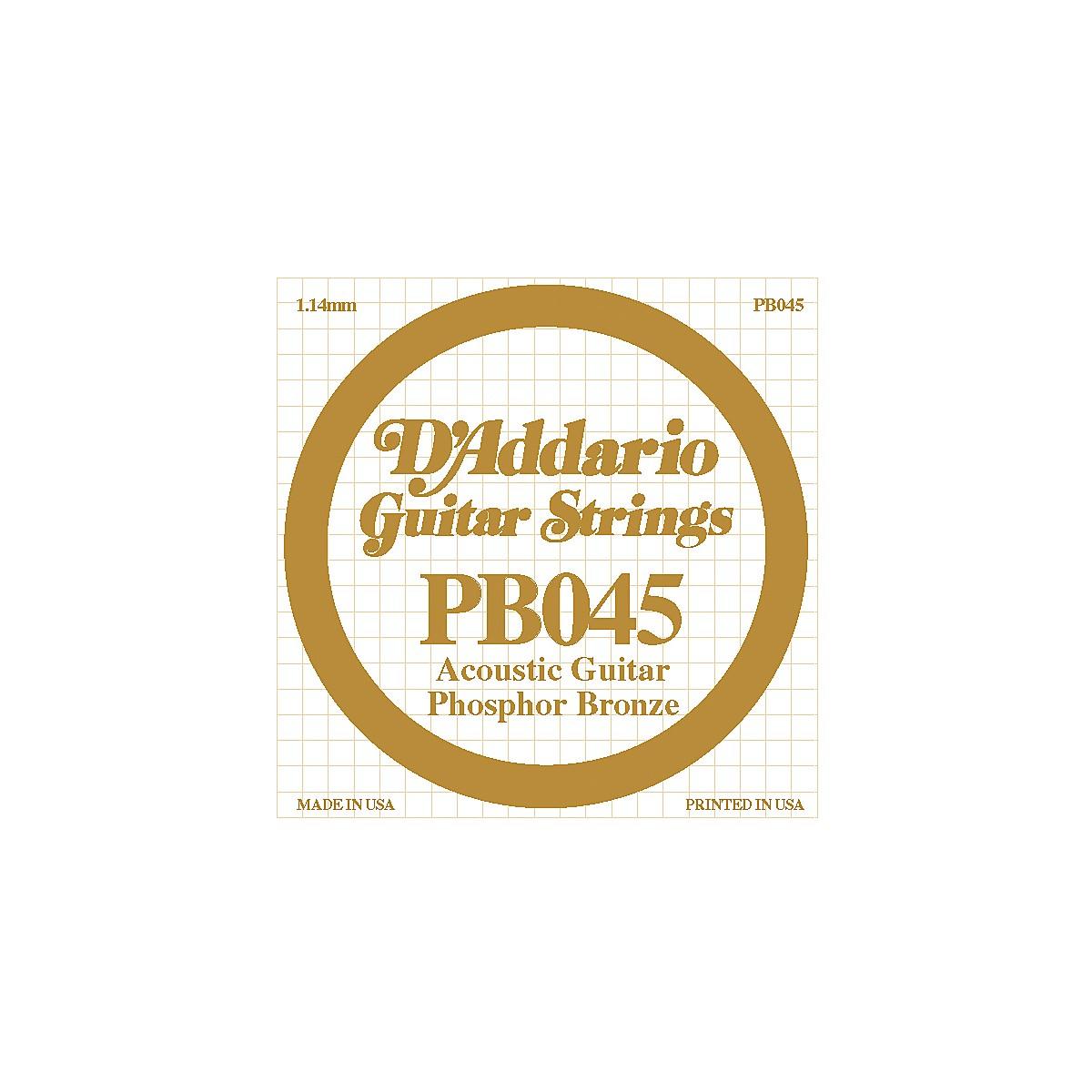 D'Addario PB045 Phosphor Bronze Single Acoustic String