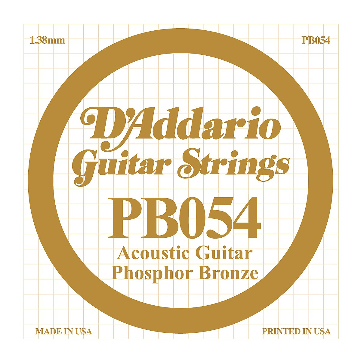 D'Addario PB054 Phosphor Bronze Single Acoustic Guitar String