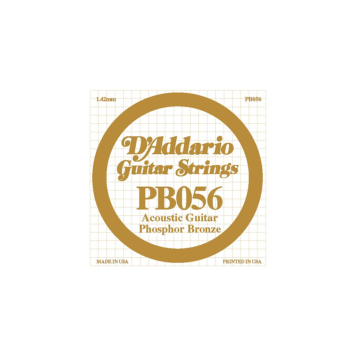 D'Addario PB056 Phosphor Bronze Acoustic String