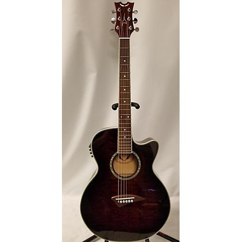 used dean pe qm tge mf acoustic electric guitar red guitar center. Black Bedroom Furniture Sets. Home Design Ideas