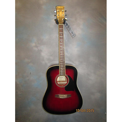 Ibanez PF15 Crimson Red Burst Acoustic Guitar