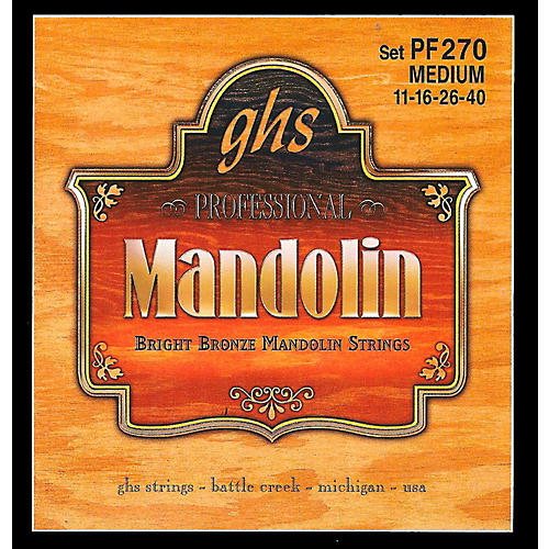 GHS PF270 80/20 Mandolin Strings