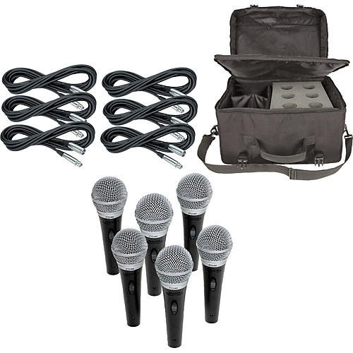 Shure PG48 6-Pack Mic Kit