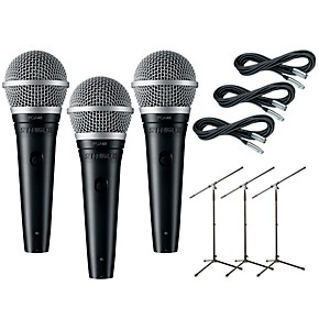 1f2f05690 Shure PGA48 3-Pack Mic and Stand Kit