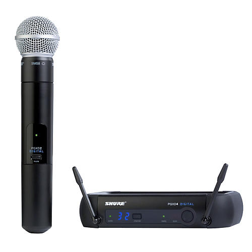 shure pgxd24 sm58 digital wireless system with sm58 mic guitar center. Black Bedroom Furniture Sets. Home Design Ideas