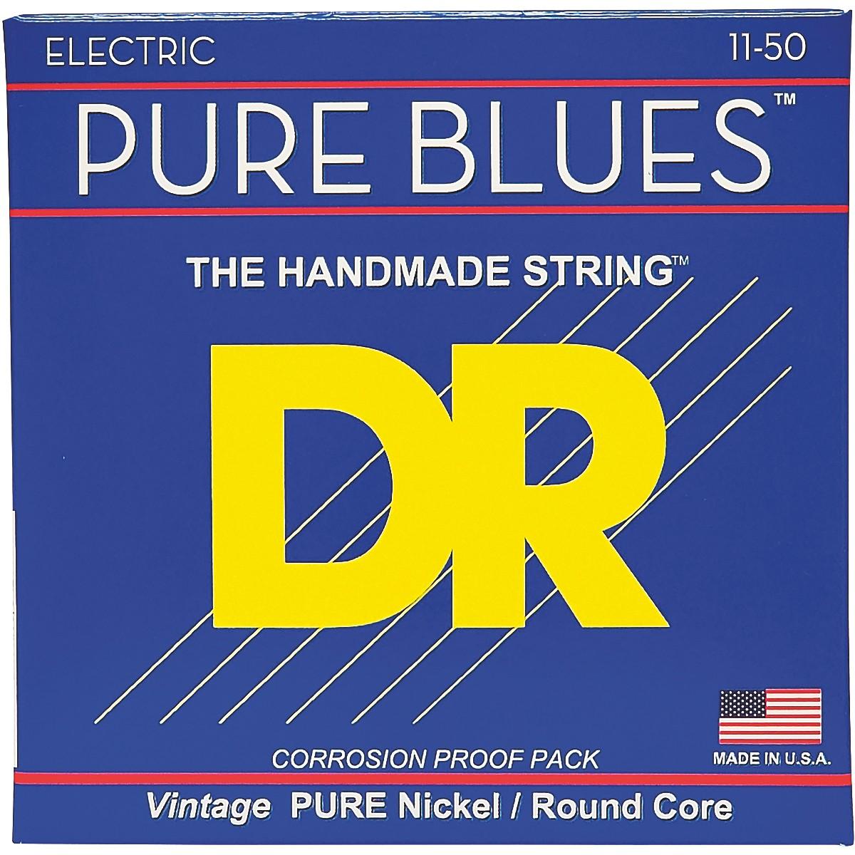 DR Strings PHR11 Pure Blues Nickel Heavy Electric Guitar Strings