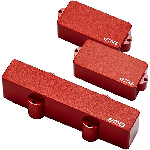 EMG PJ Set Active Bass Pickup Set Red