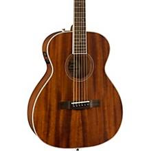 Fender PM-TE Travel All-Mahogany Acoustic-Electric Guitar