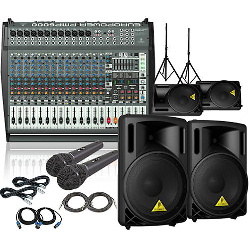 behringer pmp6000 b212xl mains monitors mics package guitar center. Black Bedroom Furniture Sets. Home Design Ideas