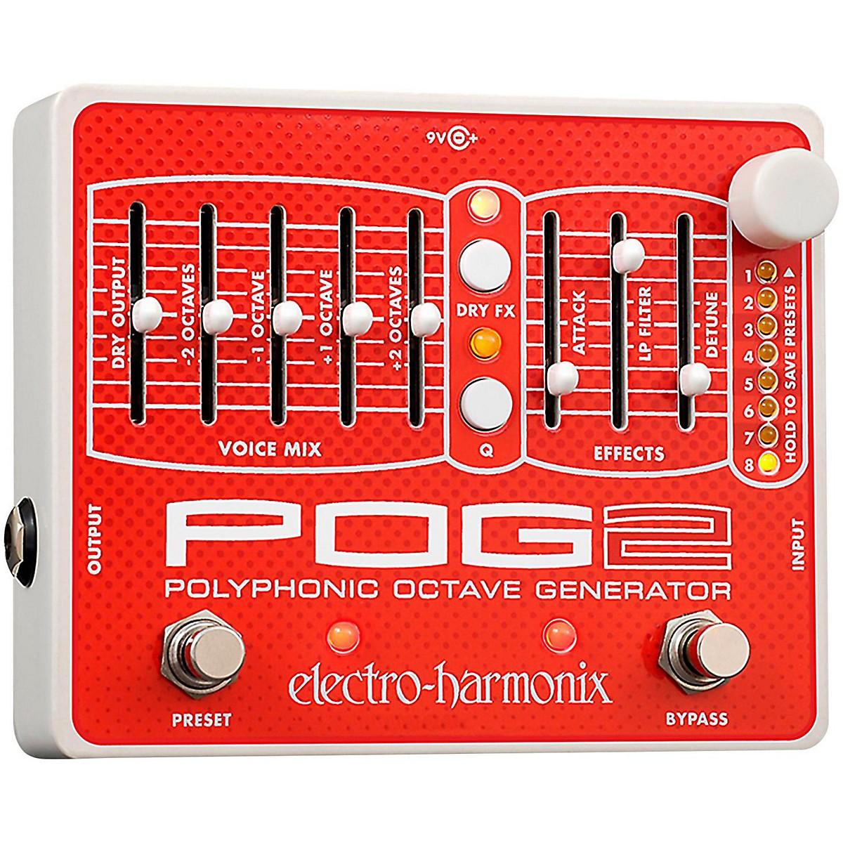 Electro-Harmonix POG2 Polyphonic Octave Generator Guitar Effects Pedal
