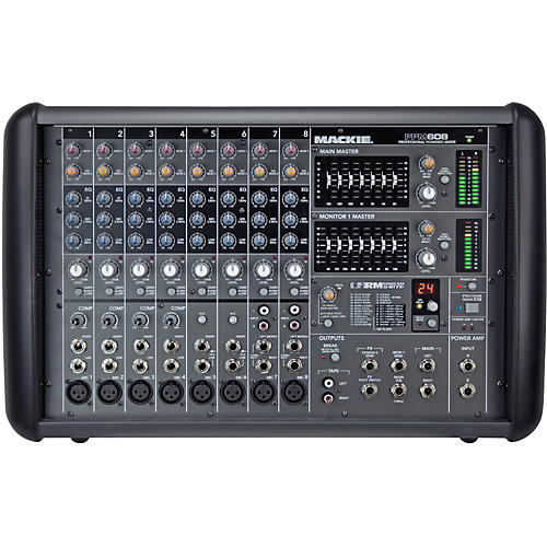 mackie ppm608 8 channel 1000w powered mixer guitar center rh guitarcenter com Mackie 8 Channel Mixer Mackie 8 Channel Mixer