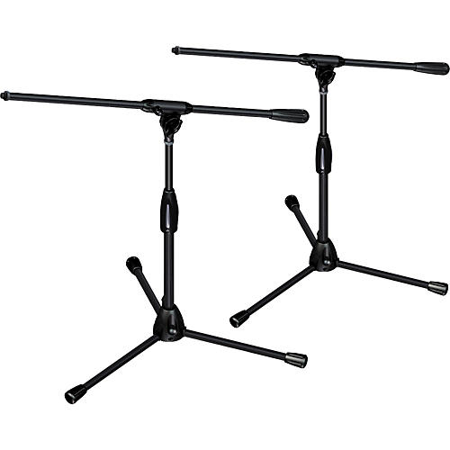 Ultimate Support PRO-T-SHORT-F Package - tripod base/fixed boom, short height 2-Pack