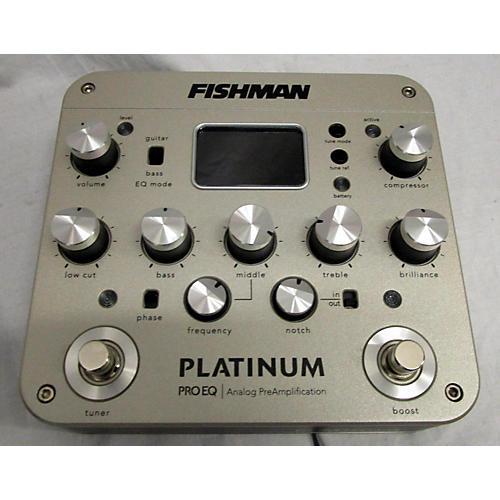 Fishman PROPLT201 Platinum EQ Pre With DI Tuner Pedal