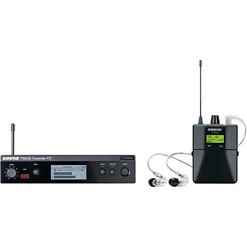 Shure PSM 300 Wireless Personal Monitoring System With SE215-CL Earphones