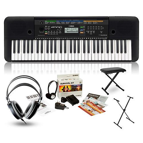 yamaha psr e253 portable keyboard package guitar center. Black Bedroom Furniture Sets. Home Design Ideas