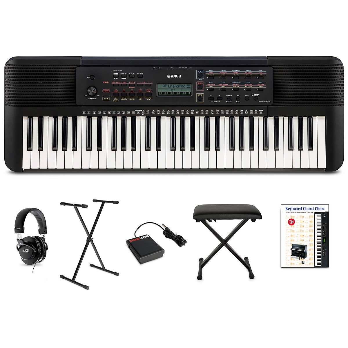 Yamaha PSR-E273 61-Key Portable Keyboard Package