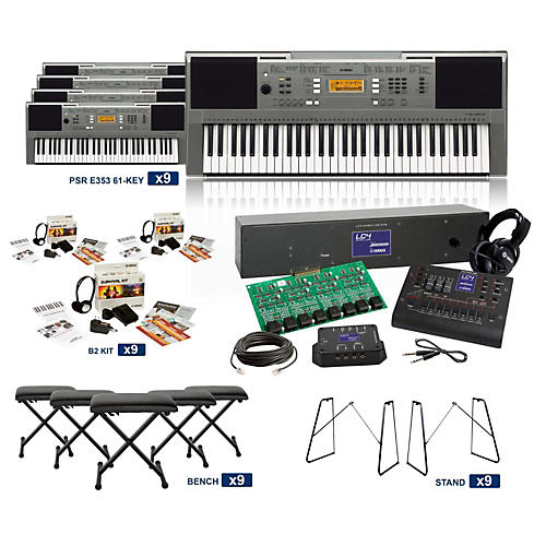 Yamaha PSR-E353 61-Key LC4 Keyboard Lab